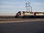 SSW 7285 leads a consist switching covered hoppers at a cement plant at 5:12pm