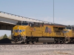 UP 7747 leads a WB doublestack at 12:52pm