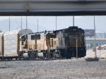 UP 9265 waits for a signal leading an EB doublestack/autorack at 11:31am