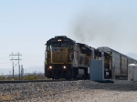 UP 9265 leads a doublestack/autorack past the detector at MP960.3 at 12:02pm