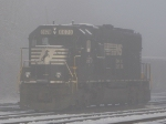 NS 6670 idles in a cold mist