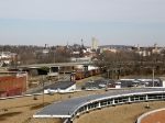 Looking north from a top JMU's parking deck