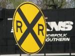 R.R. Crossing sign