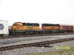 Nice pair on engines on BNSF transfer