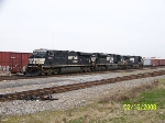 Set of engines from coal train heading for NS yard