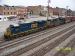 Closeup of power on CSX train Q579
