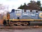 Panned shot of CSX 5393 westbound at CP 382