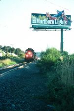 SP freight heading north.  Marb anyone?