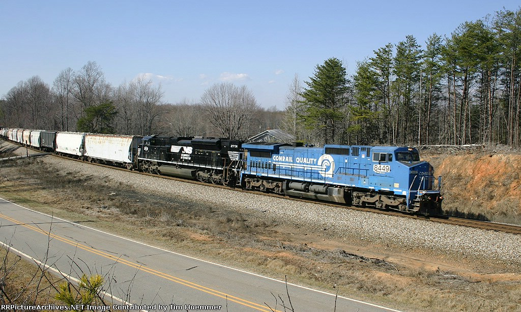 NS train 158 with a CR leader