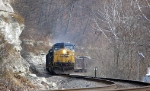 CSX 290 on the Mon Line at MP 72