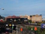 An eastbound intermodal rolls through Pittsburgh.
