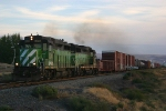 BNsf Lowline local heading to Ayer Jct.