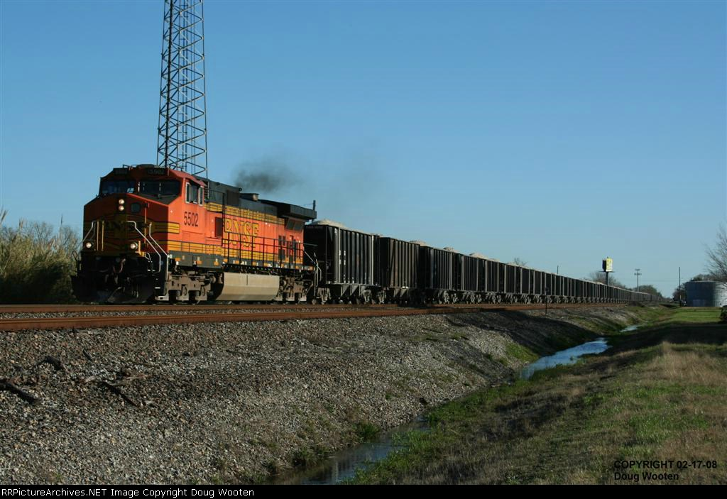 BNSF Loaded Rock Train