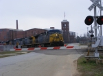 CSX 452 passes between Kings & Sibley Mills