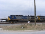 CSX 243 sits on the Engine Track