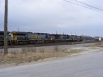 All the other locomotives behind CSX 243 on the Engine Track