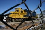 Pioneer Railcorp's power for the Kellar Branch sits at Carver Lumber