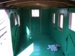 inside caboose #9255