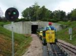 GP-9 and F-units entering Deer Ridge Tunnel