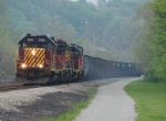 "SWP defines ""Trail and Rail"" with an empty coal train,"