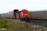 CN 7246 MOVING EMPTY AUTORACKS INTO THE FORD PLANT