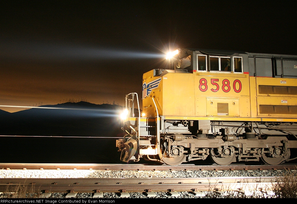 UP 8580 Idling At Monolith