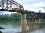 Coal Train crossing Missouri River