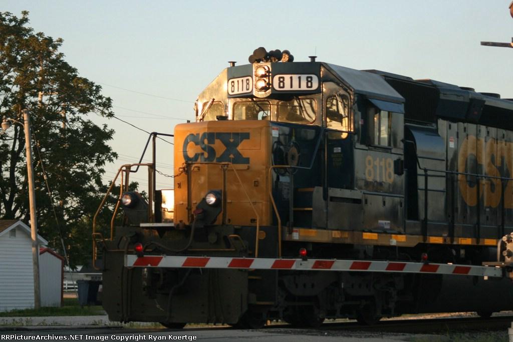 West bound CSX 8118
