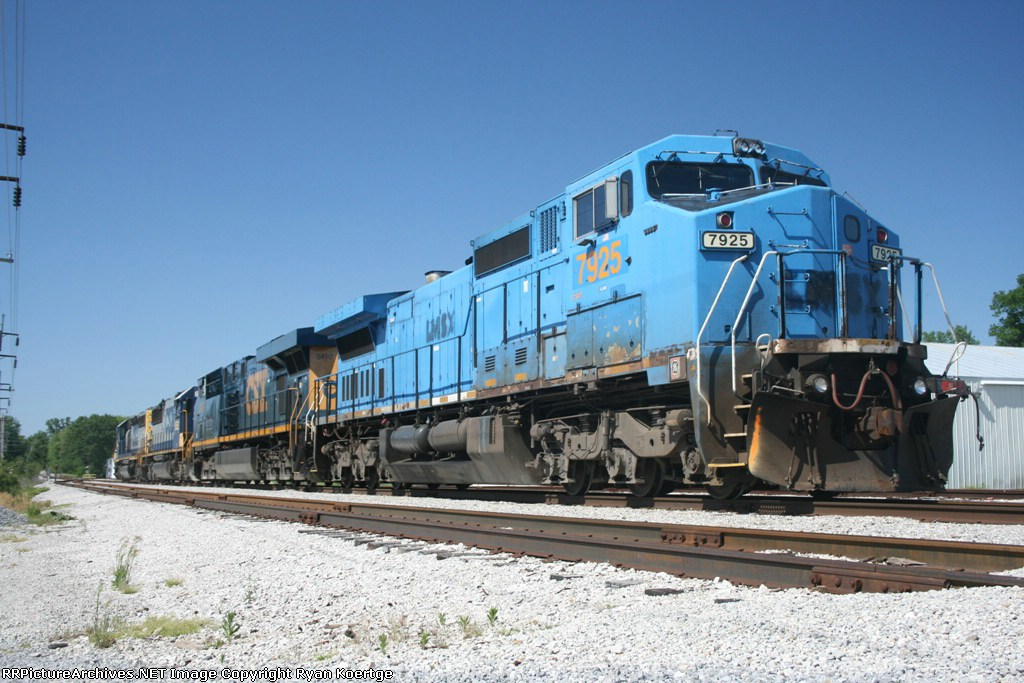 CSX 7925, 5410, 8552, and 8034 at Olney, IL.