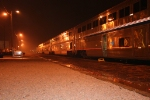 """South bound Amtrak """"City of New Orleans"""" at Centralia, Il.."""