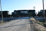 NS 7100 at West end of Simpson siding