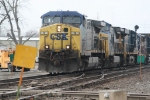 East bound CSX just about to cross CN at Effingham, Il..
