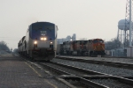 AMTK 168 passes by BNSF