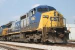 CGB grain train with CSX 7862 at Olney, Il..