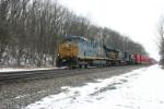 Westbound K-Line stack train
