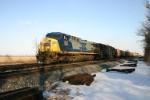 CSX 293 on New York empties