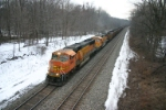 BNSF 9844 struggles to maintain about 10 mph