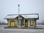 Restored Bosten Mo. Mo Pac depot at Carona Ks.