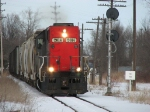 2014 rolls past the southbound Mershon signal with the 740 Job