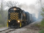 381 & 281 lay down a smoke screen as the slowly roll north with 301