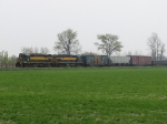 The last pair of D&M painted units, 381 & 281, lead 301 towards Pinconning
