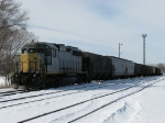 Z118 working at the east end of the yard