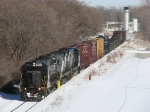 With 11 cars in tow, 301 heads for Wenona Yard