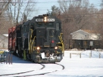 301 slows to take the sharp curve in Defoe Park before entering the HESR mainline
