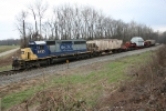 North bound CSX 8455 with wide load North of Patoka, In..