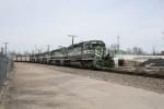 EVWR 6001 lead a coal train from Princeton, IN. to a power plamt in Evansville, IN.