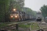 NS 9083 leads Top Gon coal train at CSX crossing