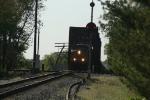 EB CSX 5393 crosses Wabash River