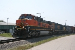 NB BNSF 965, CSX 8198, and 8157