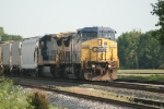 CSX 7666 heads North bound out of Princeton, IN.